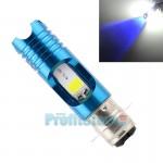 Διπολικός Μίνι Λαμπτήρας Πορείας P15D H6 με Μπλε Εφέ Φωτισμού Μοτοσυκλέτας - Λάμπα LED 6500K 16W με 2 Σκάλες Φωτισμού