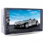 "Multimedia Οθόνη Αφής 7"" TFT Αυτοκινήτου 2DIN Bluetooth με Κεραία GPS, MP3 Player, USB, 2 x SD, AUX, FM, Ενισχυτή 4x60W Ηχείων, Πλαίσιο & Χειριστήριο"