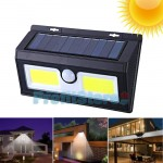 Αδιάβροχο Ηλιακό Επιτοίχιο Φωτιστικό COB LED - Προβολέας Ασφαλείας Τοίχου με Ανιχνευτή Κίνησης & Αισθητήρα Νυκτός / Φωτοκύτταρο - Solad Led Light