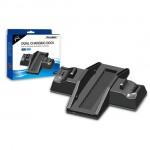 Διπλή Βάση Φόρτισης Χειριστήριων PS4 & Στήριξης Κονσόλας PS4 - Charging Dock / Stand for PS4 Controllers PRO DOBE TP4 ΟΕΜ