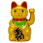 Χρυσή Γάτα Καλωσορίσματος - Feng Shui Welcome Cat 16cm