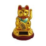 Χρυσή Γάτα Καλωσορίσματος που Λειτουργεί με τον Ηλιο Χωρίς Μπαταρίες - Feng Shui Welcome Cat Solar 8.5cm