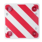 Αφρώδης Αντανακλαστική Τετράγωνη Πινακίδα για Φορτηγά με 4 Βεντούζες για Σήμανση Κινδύνου και Προσοχής Maxeed 50x50 cm