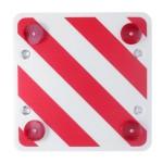 Αφρώδης Αντανακλαστική Τετράγωνη Πινακίδα για Φορτηγά με 4 Βεντούζες για Σήμανση Κινδύνου και Προσοχής Maxeed 60x60 cm