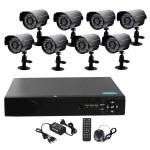 Ολοκληρωμένο Σετ CCTV Ασφαλείας Καταγραφικό DVR με 8 Επιτοίχιες Κάμερες με Νυχτερινή Λήψη