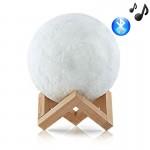 Ανάγλυφο Φωτιστικό Αφής - Ηχείο Bluetooth Φεγγάρι 3D  Moon Light LED 15cm - Επαναφορτιζόμενο με 2 Αποχρώσεις