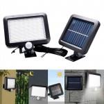 Επιτοίχιος Ηλιακός Προβολέας 56 LED με Ανιχνευτή Κίνησης, Φωτοκύτταρο & Πάνελ Φόρτισης - Ψυχρού Φωτισμού - Solar Panel Led Light w/ Motion Sensor