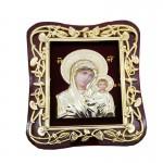 Ξύλινη Λουστραρισμένη Εικόνα Παναγία  Ιησούς Χριστός ΑΤ-24Α