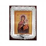 Ξύλινη Λουστραρισμένη Εικόνα Παναγία και Ιησούς Χριστός  3342