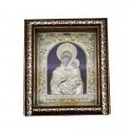 Ξύλινη  Λουστραρισμένη Εικόνα Παναγία και Ιησούς Χριστός  3348