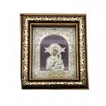 Ξύλινη  Λουστραρισμένη Εικόνα Παναγία και Ιησούς Χριστός  3352