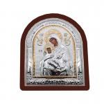 Ξύλινη  Λουστραρισμένη Εικόνα Παναγία και Ιησούς Χριστός  3375