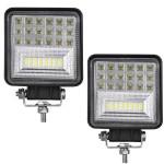 Αδιάβροχος Προβολέας Αυτοκινήτου σετ 2 τεμαχίων LED Διάχυτου & Μακρινού Φωτισμού Spot 42SMD 6000K 12-30V