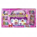 Σετ Παιχνίδι Μεγάλο Σπίτι Μπαταρίας & Κούκλα 88x48cm