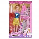 Πασχαλινή Κοριτσίστικη Λαμπάδα με Παιχνίδι Κούκλα, Φορέματα, Ρόλλευ και Σκουλαρίκια 32x20cm