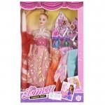 Πασχαλινή Κοριτσίστικη Λαμπάδα με Παιχνίδι Κούκλα με 3 Φορέματα και Σκουλαρίκια 32x20cm