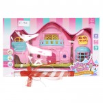 Πασχαλινή Κοριτσίστικη Λαμπάδα με Παιχνίδι Αναδιπλούμενο Σπιτάκι 34x21x7cm