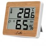 Ψηφιακό Θερμόμετρο / Υγρόμετρο Εσωτερικού Χώρου με Bamboo Πρόσοψη