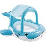 Φουσκωτή Παιδική Πισίνα Φάλαινα με Σκίαστρο 211x185x109cm
