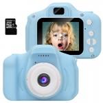 HD Γαλάζιο Μίνι Ψηφιακή Παιδική Φωτογραφική Μηχανή / Κάμερα - Επαναφορτιζόμενη USB Kids Camera Toy για Παιδιά