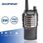Ισχυρός Ασύρματος Φορητός Πομποδέκτης UHF VHF - Baofeng 8W 128 Κανάλια PMR Dual Band Long Range με Φακό LED Walkie Talkie
