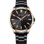 Αδιάβροχο Ανδρικό Ρολόι Curren Black-Rose Gold - Men Waterproof Quartz Watch