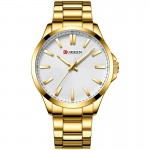Αδιάβροχο Ανδρικό Ρολόι Curren Gold-White - Men Waterproof Quartz Watch