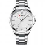 Αδιάβροχο Ανδρικό Ρολόι Curren Silver-White - Men Waterproof Quartz Watch