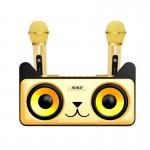 Φορητό Σύστημα Karaoke με Διπλά Μικρόφωνα Ασύρματα Bluetooth Οικογενειακό Σετ ηχείων OEM