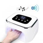 Επαγγελματικό Φουρνάκι Νυχιών Dual UV LED με Ηχείο Bluetooth - Λευκό
