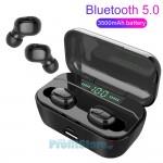 Αδιάβροχα Bluetooth Ακουστικά in-Ear με Θήκη Φόρτισης, Powerbank USB Φορητή Μπαταρία & LED Οθόνη - Handsfree Wireless Stereo Earphone