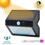 Αδιάβροχο Ηλιακό Επιτοίχιο Φωτιστικό 500lm LED με 4 Λειτουργίες, Ανιχνευτή Κίνησης & Φωτοκύτταρο - Προβολέας Ασφαλείας Εξωτερικού Χώρου