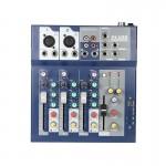 Μίκτης Ήχου 4κάναλος & 3-Band EQ, Θύρα USB, AUX & 2 Είσοδοι για Μικρόφωνο