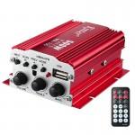 Μίνι Ενισχυτής Kinter 2-Κανάλια με Τηλεχειριστήριο, USB, MP3, Ραδιόφωνο FM