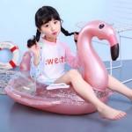 Παιδικό Σωσίβιο Κάθισμα Ροζ Φουσκωτό Φλαμίνγκο Θαλάσσης 85εκ - Inflatable Base Ring