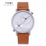 Ανδρικό Ρολόι TOMI - Casual Analog Watch For Men Καφέ-Ασημί