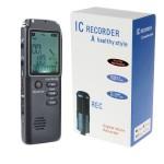 Ψηφιακό Επαναφορτιζόμενο Καταγραφικό Φωνής με Ανίχνευση Ήχου 8GB USB Οθόνη LCD MP3 - Voice Activated Recorder NOVACOM T60