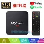 Μετατροπέας SmartTV Mini Android 9.0 TV Box 4K Ultra HD 5G WiFi 16GB 3D SD / USB Quad Core Miracast με Playstore, Netflix, Youtube MXQ PRO ΟΕΜ
