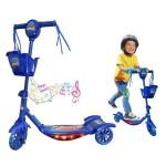 Πρωτοποριακό Μπλέ Παιδικό Πατίνι με 3 Τροχούς Μουσική και Φωτισμό Led