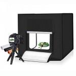 Μίνι Αναδιπλούμενο Στούντιο Φωτογράφισης 60x60cm με Ενσωματωμένο Φωτισμό LED