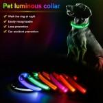 Αδιάβροχο Κολάρο Σκύλου με Φωτισμό Led - Large 45cm-52cm Κόκκινο