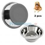 Σετ Αντιολισθητικά Μπολ Φαγητού - Νερού Σκύλων 13cm και 23cm