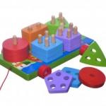 Ξύλινο Ρυμουλκούμενο Εκπαιδευτικό Παιχνίδι