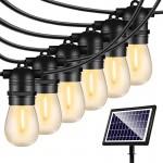 Ηλιακές Αδιάβροχες Διακοσμητικές 16x Λάμπες Γιρλάντα LED Θερμού Φωτισμού 15m, Φωτοβολταϊκό Πάνελ με Φωτοκύτταρο – Solar Garland Bulbs Outdoor Lights