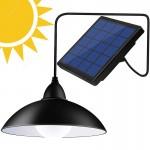 Αδιάβροχο Ηλιακό Φωτιστικό 500lm Οροφής LED Θερμού & Ψυχρού Φωτισμού με Αυτόματη Ρύθμισης Έντασης Φωτός, Timer & Χειριστήριο - Solar LED Lamp