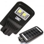 Αδιάβροχος Ηλιακός Προβολέας 30w - Φωτιστικό Δρόμου με Τηλεχειριστήριο, Ανιχνευτή Κίνησης, Φωτοκύτταρο & Φωτοβολταϊκό Πάνελ - Solar Street Light