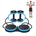 Όργανο Ολικής Εκγύμνασης με Λάστιχα - Multifunction Abdominal Wheel Μπλε
