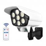 Αδιάβροχη Ηλιακή Ψεύτικη Κάμερα Ασφαλείας με Φωτιστικό LED, Ανιχνευτή Κίνησης & Φωτοβολταϊκό Πάνελ - Solar Light & Security Dummy Camera