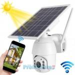 Ηλιακή Αδιάβροχη Ασύρματη IP WiFi Κάμερα Full HD 1080p P2P Εξωτερικού Χώρου με Νυχτερινή Όραση, Ανιχνευτή Κίνησης, Ειδοποίηση στο Κινητό, Mic, Ηχείο