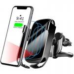 Ασύρματος ΤαχυΦορτιστής με Αυτόματο Άνοιγμα & Βάση Στήριξης Τηλεφώνου Αυτοκινήτου Baseus 10W  για Αεραγωγούς - Car Wireless Charger Auto Style Μαύρο